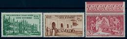 1942 - COSTA DE MARFIL / COTE D'IVOIRE ,  YV. 6 / 8 AER. ** , PROTECCIÓN DE LA INFANCIA INDÍGENA - Costa De Marfil (1892-1944)