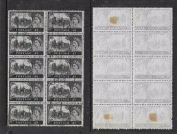 Great Britain, EIIR, 1967, £1, No Watermark, Block Of 10,  Parcels Used - Used Stamps