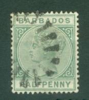 Barbados: 1882/86   QV    SG90    ½d   Green     Used - Barbados (...-1966)