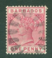 Barbados: 1882/86   QV    SG92    1d   Carmine     Used - Barbados (...-1966)