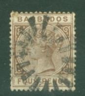 Barbados: 1882/86   QV    SG99    4d   Deep Brown     Used - Barbados (...-1966)