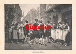 1195 Marchal Dienstbotenmarkt Elsass Straßburg Druck 1894 !! - Drucke