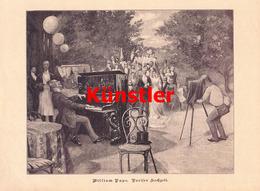 1197 William Pape Pariser Hochzeit Paris Druck 1894 !! - Drucke