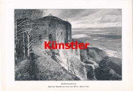 1198 Fritz Von Wille Hohkönigsburg Elsass Druck 1903 !! - Drucke