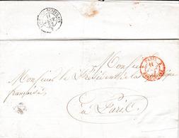 Pli Daté D'Amiens Adressé En Franchise Au Président De La République 11 Janvier 1852 - 1849-1876: Période Classique