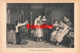 1201 Pabst Hochzeit Elsass Braut Kunstblatt 1888 !! - Drucke