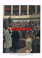 1202 Herrmann Vogel Deputiertenkammer Paris Kunstblatt 1910 !! - Historische Dokumente
