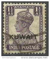 Kuwait - 1945 King George VI 1.5a Used  Sc 63 - Kuwait