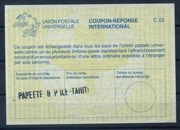 TAHITI / POLYNESIE FRANCAISE La26International Reply Coupon ReponseIRC IAS Antwortschein O PAPEETE RP ILE TAHITI - Tahiti