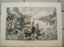 1205 Mahn Wassereihe Kaukasus Großbild Druck 1899 !! - Drucke