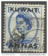 Kuwaut - 1953  Queen Elizabeth II  4a Used  Sc 108 - Kuwait