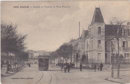CPA 56 LORIENT AVENUE DU FAOUEDIC ET PLACE PLOEMEUR Tramway Animée - Lorient