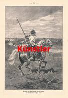 1209 Brandt Kosaken In Der Steppe Russland Druck 1902 !! - Drucke