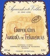 Brandy Label, Portugal - Aguardente Velha Cooperativa Agricola De Felgueiras - Labels