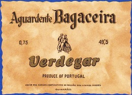 Brandy Label, Portugal - Aguardente Bagaceira VERDEGAR / Guimarães - Labels