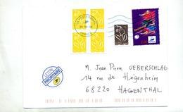 Lettre Flamme Muette Poste 02883A Sur Carre Football - Marcofilia (sobres)