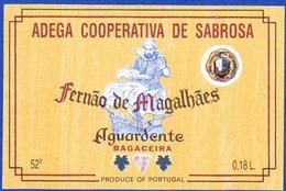 Brandy Label, Portugal - Aguardente Bagaceira FERNÃO DE MAGALHÃES / Adega Cooperativa De Sabrosa - Labels