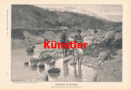 1212 Franz Roubaud Tscherkessen Vorposten Russland Druck 1902 !! - Drucke