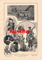 1213 G. Sieben Von Der Russischen Grenze Reiter Russland Druck 1894 !! - Drucke