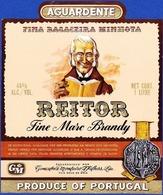 Brandy Label, Portugal - Aguardente Bagaceira REITOR / Vila Nova De Gaia - Labels