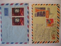 Russland- Luftpost Mit Mi. 3482, Beleg Sojus 9 Mi. 3779 - Lettres & Documents