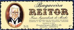 Brandy Label, Portugal - Aguardente Bagaceira REITOR / Penafiel, Amarante - Labels