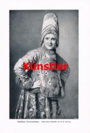 1214 R.B. Wenig Russisches Bauernmädchen Russland Druck 1905 !! - Drucke