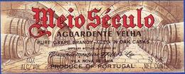 Brandy Label, Portugal - Aguardente Velha MEIO SÉCULO / Gonçalves, Monteiro & Filhos, Vila Nova De Gaia - Labels