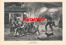 1215 W. Grögler Letzte Garben Alpachtal Erntezeit Druck 1887 !! - Drucke