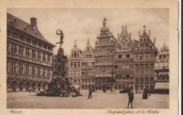 AN45 Anvers, La Grand Place Et Le Brabo - Animated, Vintage Car - Antwerpen
