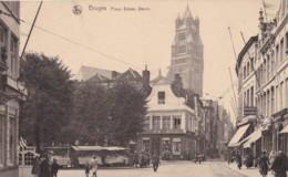 AN45 Bruges, Place Simon Stevin - Animated, Market Stalls, Shops - Brugge