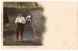 CPA Folklore. A Travers La Campagne Normande - 2. T'en Souviens-tu ? Dos Simple - People