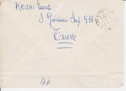 Trieste A. Busta Raccomandata Affrancata Con Sassone 98 (x2) E103 (05307) - 7. Trieste