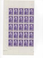 FRANCE  N° 749  BECQUEREL  2F+3F De 1945  FEUILLE De 50 Timbres (cote 25 E) - Full Sheets