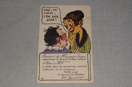 """Humour Collection Comique Noyer Concours De Mauvaise Langue """" La Vipère Déchaînée """" - Humour"""