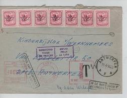 3371/ TP PO795 S/L. Indication 0 De Wilrijk Griffe T > Antwerpen Taxe Méc.25 F C. Retour,Refusé&Trouvé C.Antwerpen - Taxes