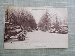 CPA 08 GRANDE GUERRE 1914-18 RETHEL PROMENADE DES ISLES ENGINS ANCIENS - Rethel