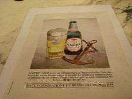ANCIENNE PUBLICITE  C EST UNE BIERE ANCRE 1964 - Alcools