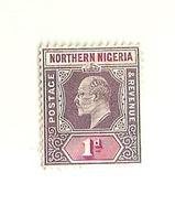 "5097 ""NIGERIA SETTENTRIONALE-1904-KING EDWARD VII-1d "" ORIGINALE - Stamps"