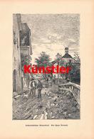 1219-2 Hugo Darnaut Österreich Bauerndorf Kunstblatt 1886 !! - Drucke
