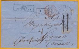 1867 - империя  - Empire Russe - LAC D' Odessa, Russie  Vers Gignac, Hérault, France - Cad Transits Et Arrivée - 1857-1916 Imperium