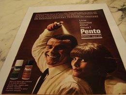 ANCIENNE PUBLICITE UNE BOMBE POUR DEUX PENTO 1964 - Perfume & Beauty