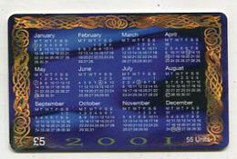 TK 08885 ISLE OF MAN - Chip Calendar - Celtic Art - Isla De Man