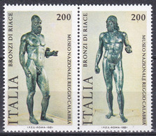 Italien Italy Italia 1981 Kunst Arts Kultur Culture Skulpturen Sculpture Bronze Krieger Warrior Riace, Mi. 1773-4 ** - 6. 1946-.. Republik