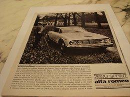 ANCIENNE PUBLICITE VOITURE 2600 SPRINT ALFA ROMEO  1964 - Voitures