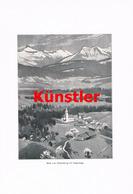 1222 F. Schrempf Schweizberg Langenegg Vorarlberg Kunstblatt 1906 !! - Drucke