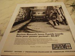 ANCIENNE PUBLICITE PASSE PARTOUT CAMION SAVIEM  RENAULT 1964 - Trucks