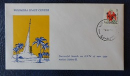 1974 - COVER - WOOMERA, SA AUSTRALIA - WOOMERA SPACE CENTER, LUNCH ROCKET JABIRU- II - Collezioni