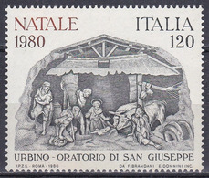 Italien Italy Italia 1980 Religion Christentum Weihnachten Christmas Krippe Crib Urbino Brandani, Mi. 1738 ** - 1946-.. République