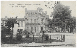Gaillac Monument Aux Morts Et Caisse D' Epargne - Gaillac